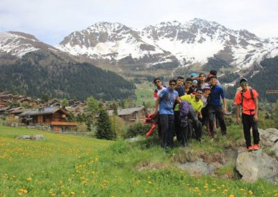 Hiking across the alps